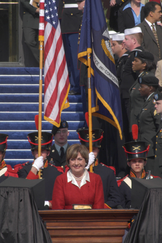 Kathleen Blanco smiling at inauguration